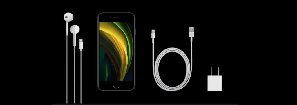 Contenido de la caja del iphone SE 2020