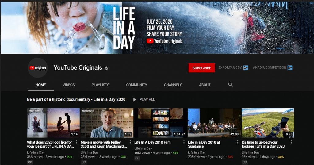 Originals de Youtube Premium