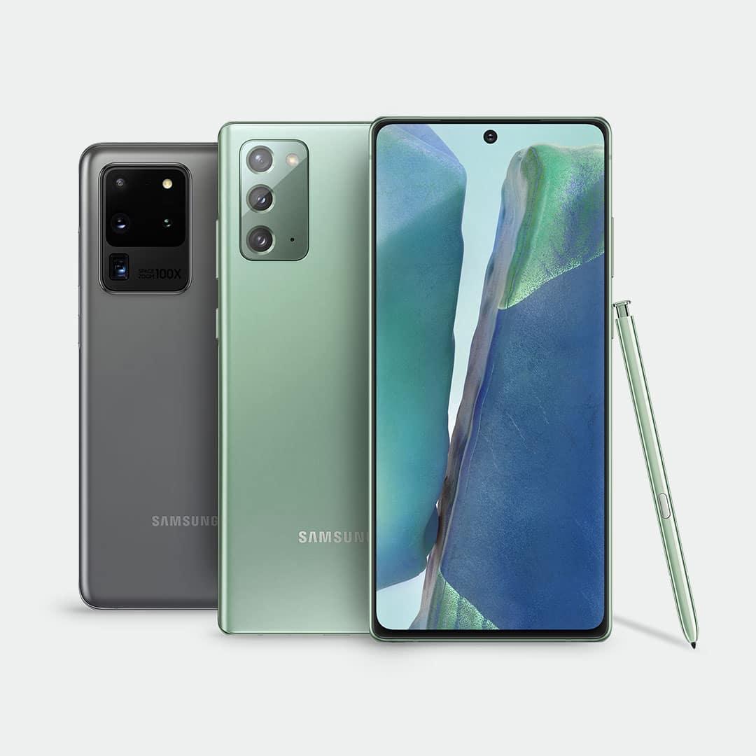 Galaxy S20 Ultra y Galaxy Note 20