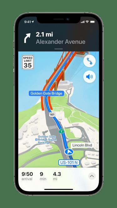 Vista 3D de la nueva App de Maps.